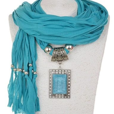 Shawl Necklace Scarves Pendant Women