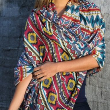 Aztec Oversized Scarf Wrap