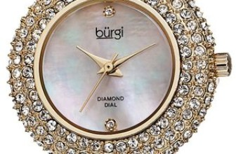 Diamond Mother-of-Pearl Dial Crystal Watch