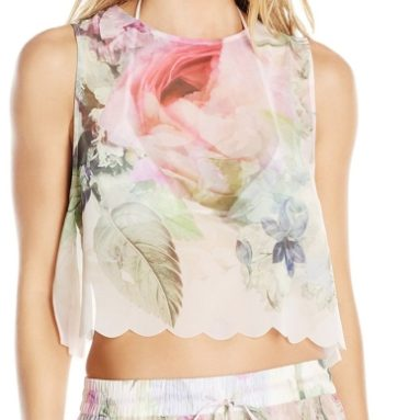 Women's Scalpp Pure Peony Scalloped Cover Up