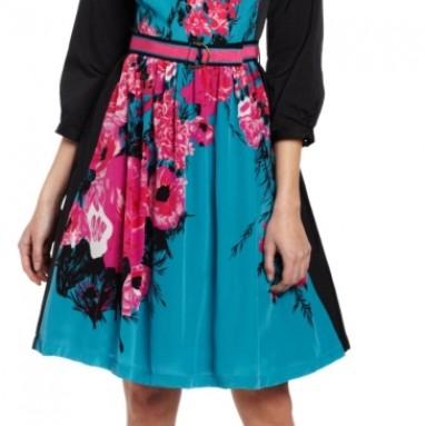 Women's Contrast Frock Dress
