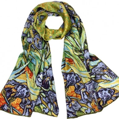 "Van Gogh's ""Irises"" Long Scarf Shawl"