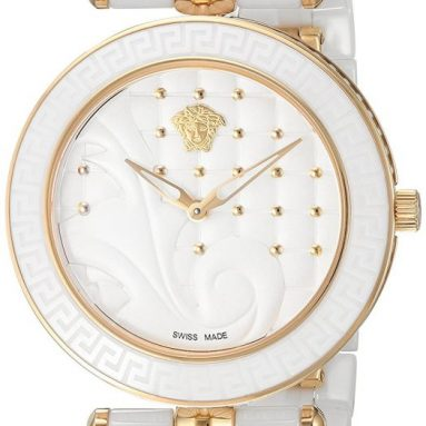 Versace Women's 'Vanitas' Swiss Quartz Stainless Steel and Ceramic Casual Watch