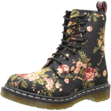 Victorian Print Lace Up Boot