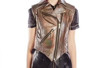 Viktor Luna Women's Hologram Moto Leather Vest