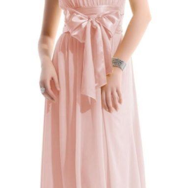 Waist Bowtie Strapless Evening Dress