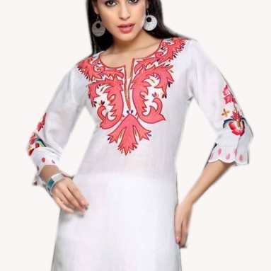 Tunic Flower Embroidered Top