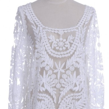 Anna-Kaci White Embroidered Top