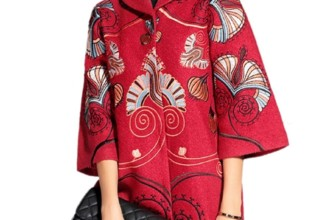 Classy Embroidered Long Wool Coat Jacket
