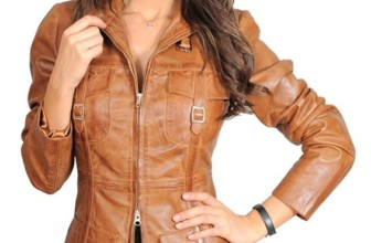 Womens 3/4 Fitted Real Leather Coat Ladies Jacket Carol Tan