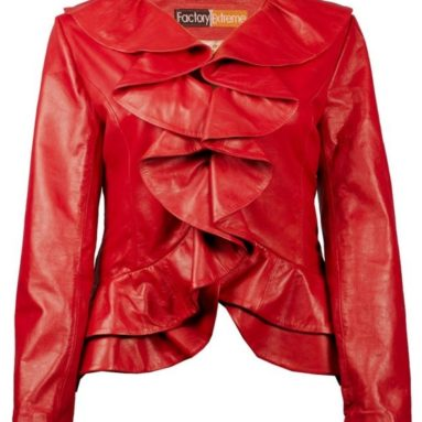 Womens Black or Red or Blue Leather Jacket