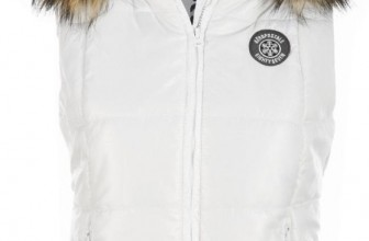 Womens Detachable Hooded Puffer Puffer Vest Outerwear