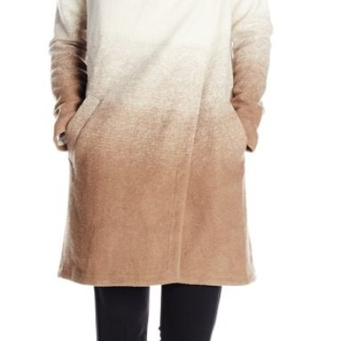 Women's Emerson Ombre Fuzzy Wool-Blend Coat