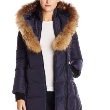 Women's Kay Down Coat with Faux-Fur Trim