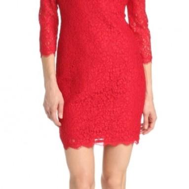 Women's Long Sleeve Lace Dress