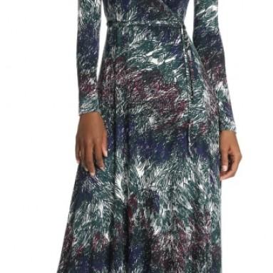 Women's Long Wrap Dress