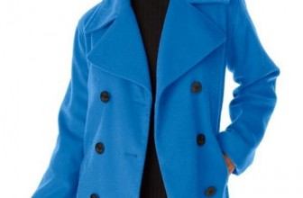 Women's Plus Size Jessica London Petite Wool-Blend Pea Coat