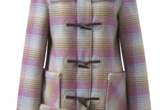 Womens Short Checked Duffle Coat
