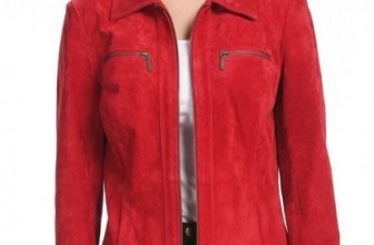 Women's Stacy Zip Front Suede Leather Jacket
