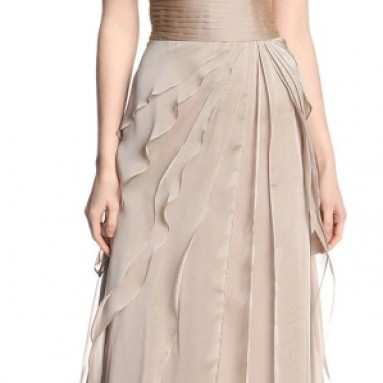 Women's Tiered Chiffon Gown