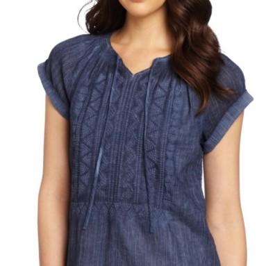 Calvin Klein Jeans Women's Crinkle Gauze Top