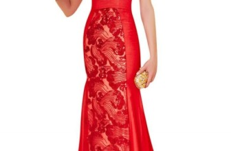 Sleeves Evening Dress