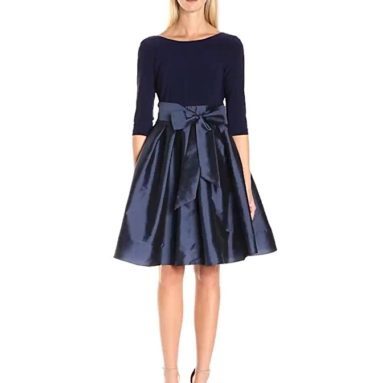 Women's Taffeta Two-Fer Fit and Flare