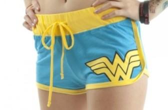 Wonder Woman Booty Shorts Juniors Girls